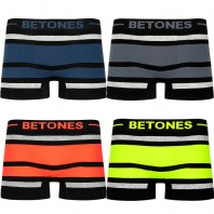 BETONES ボクサーパンツ BREATH-BLACK-BB001 MEN Free
